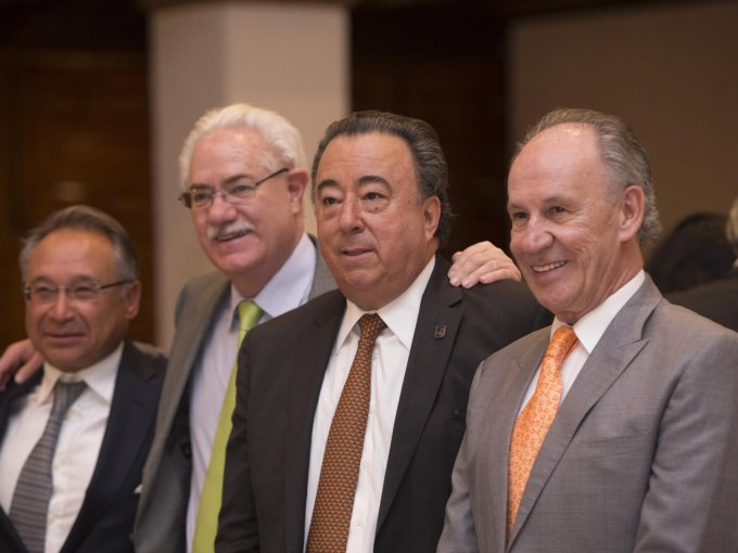 Vicente del Blanco, Humberto Sotomayor, Plácido Díaz Barriga y Lenin Rodríguez