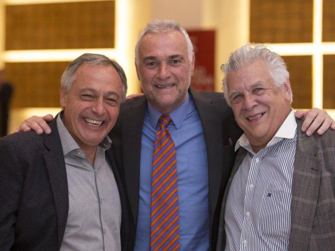 Octavio Díaz Rivera y Eduardo Díaz Rivera con Eduardo Villamil
