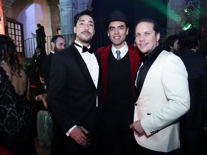 Rodrígo Calderón, Fran Gallardo y Gary Alazraki