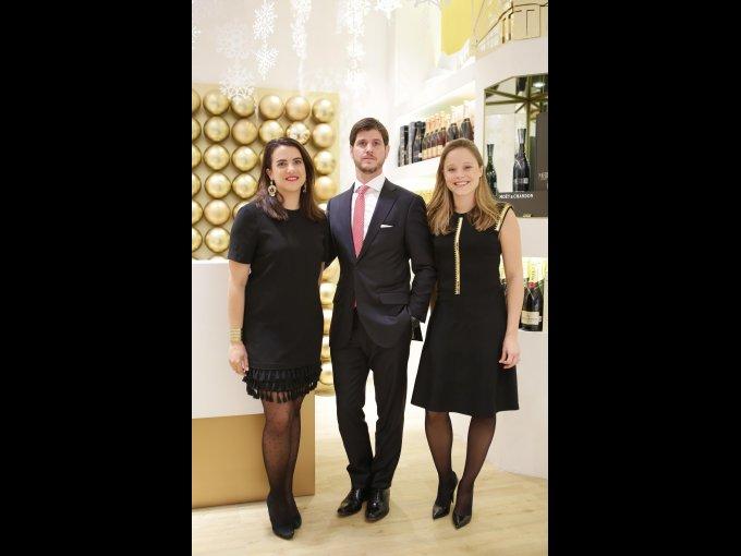 Laure Vaccaro, Carlos Pechieu y Charlotte De Sannes