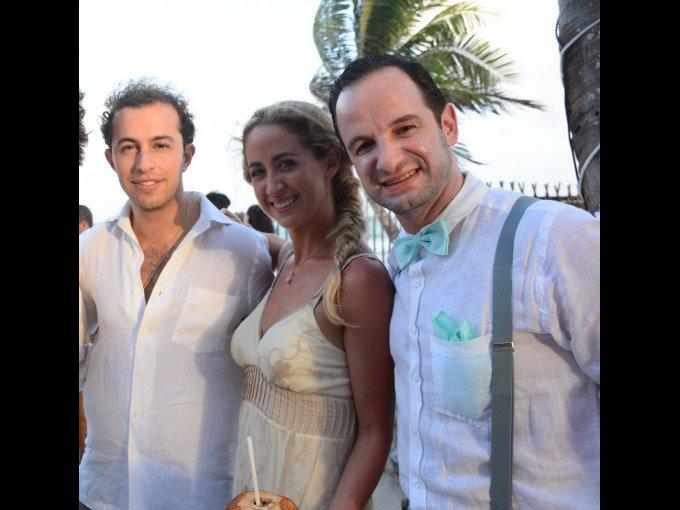 Guillermo Barroso, Paulina Enríquez y Santiago Ayala
