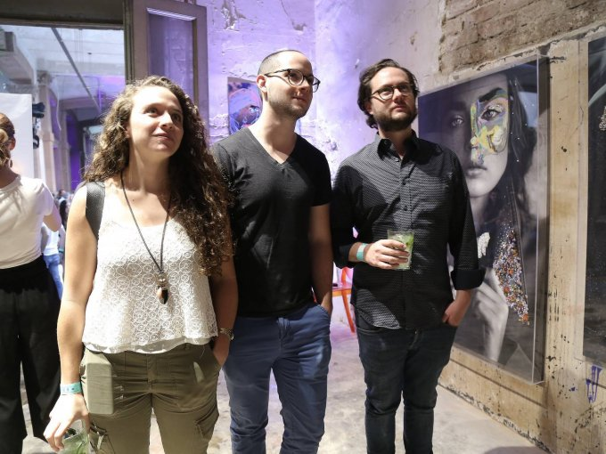 Daniela Hernández, Gabriel López y Michel Figot