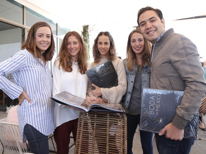 Alejandra Manzano, Paola Noriega, Gabriela Setién, Andrea Bardasano y Diego del Río