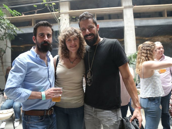 Álvaro Lebrija, Paola Desentis y Enrique Hernández Pons