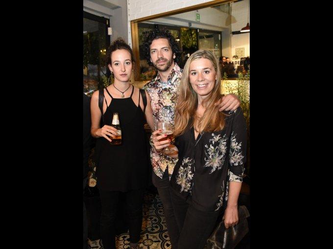 Laura Vela, Felipe Bustos y María Martín López