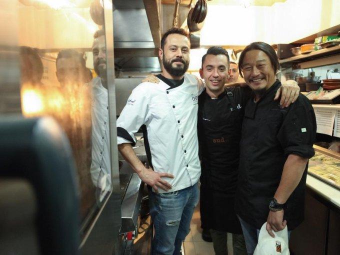 Pedro Martín, Edgar Núñez e Hiroshi Kawahito