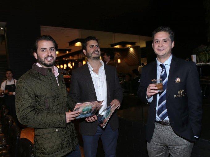Andrés Bardasano, Diego Bardasano y Eduardo López Morton