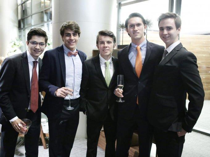 Rafael Barbato, Franco Fafasuli, Emilio Pacheco, Sergio Ruiz-Olloqui y Javier Flores
