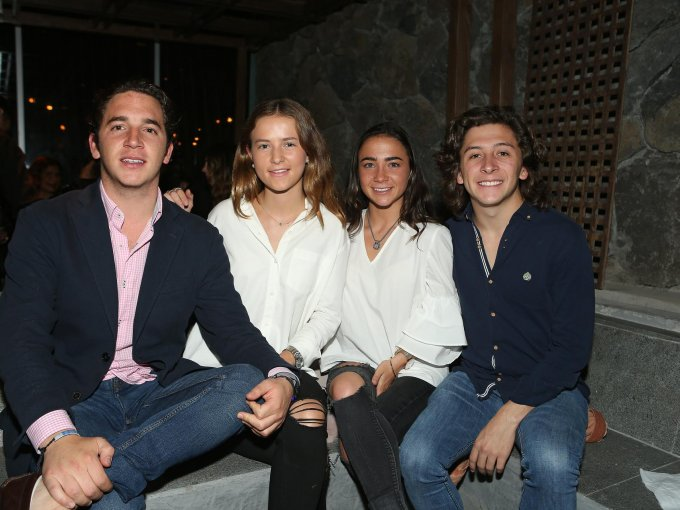 Patricio Cobar, Verónica de la Macorra, Andrea Cobar y Gerónimo Moncada