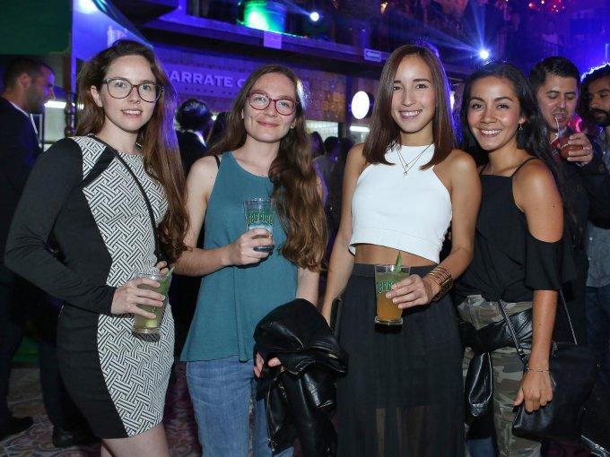María Garcés, Andrea Ruiz, Ivana Rodríguez y Ana Sofía Morales