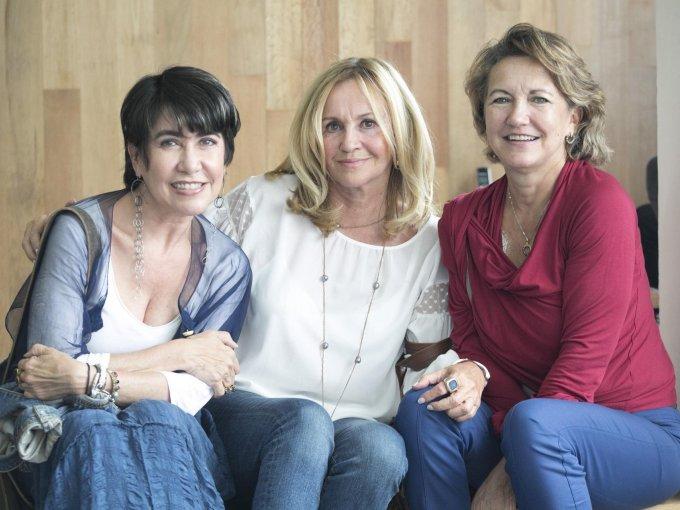 Desiré Duarte, Celina Valdez y Anita Hesketh