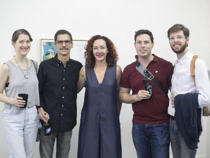 Heidi Sloane, Javier Castaños, Karen Huber, George Cook y Pierre Carrier