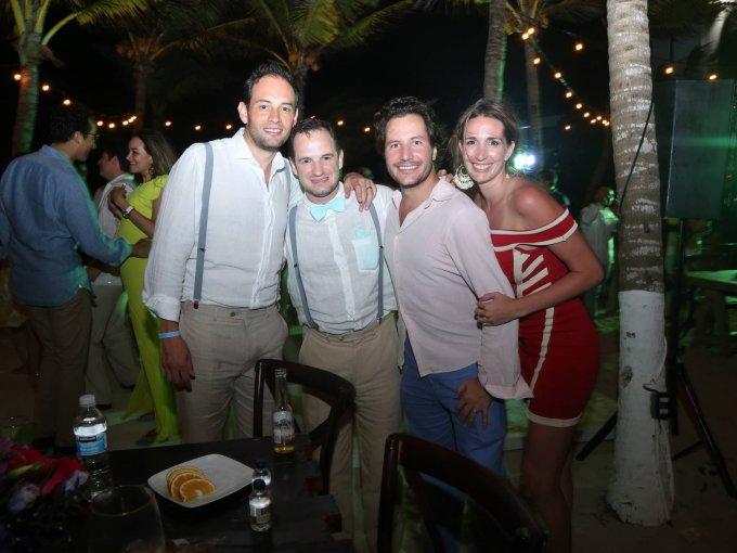 Juan Manuel Garabito, Santiago Ayala, Rodrigo Melo y Joana Melo