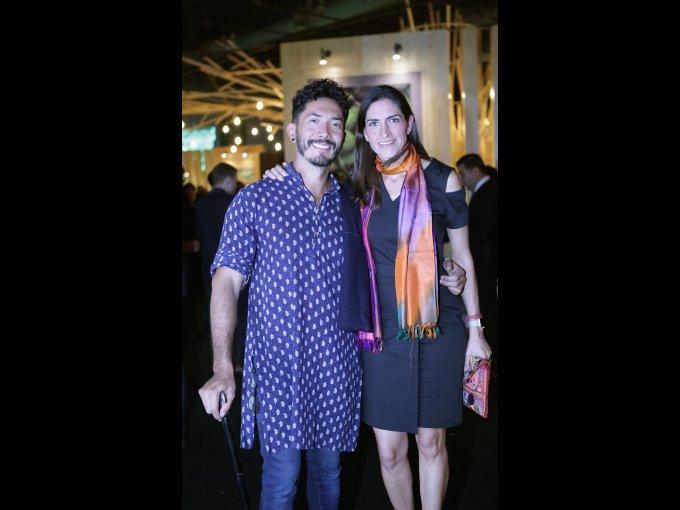 Adán Cárabes y Lorena Vieyra