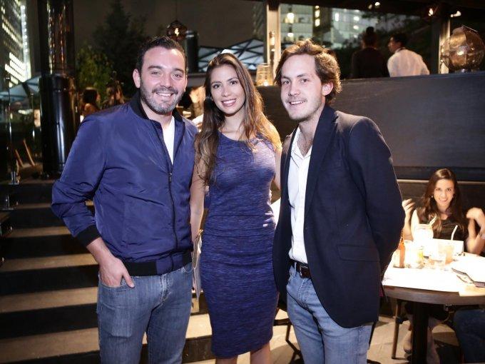 Raúl de la Sierra, Carolina Bolaños y Roberto Peña