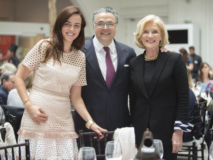 María Fernanda Landucci, Martín Olavarrieta y Viviana Corcuera
