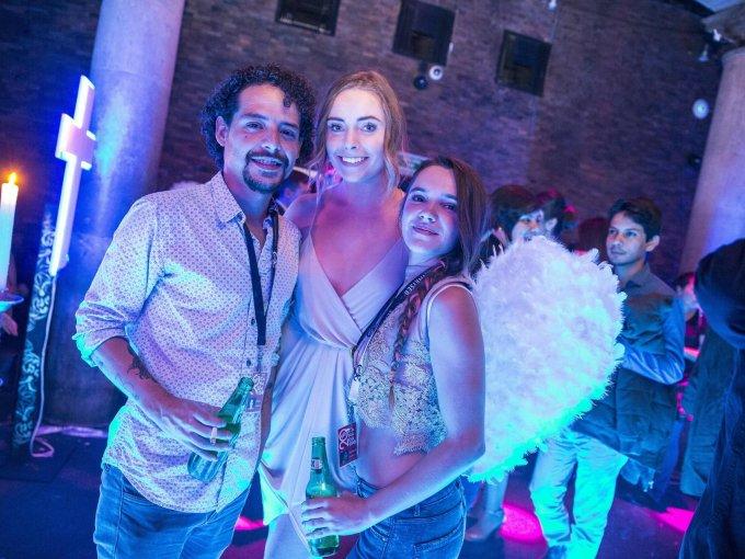 David Granados, Emma Makillip y Mariana Fuentes