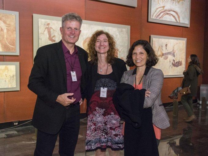 Richard Kuba, Hélène Ivanoff y Margarita Valdovinos