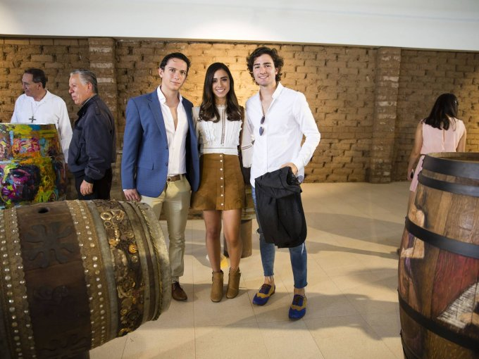 Andrés López, Paulina Aguilera y Jaime Casas