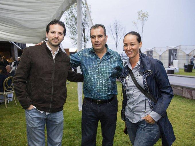 Fernando Alanis, Eduardo López y Noemí de la Torre