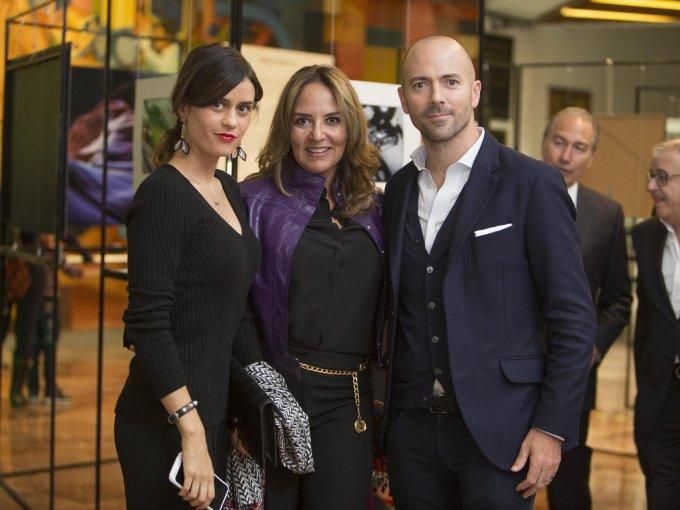 Ana Paula de Haro, Sabrina Herrera y Víctor Alvariño