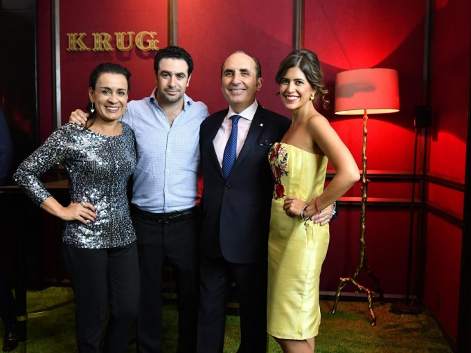 Andrea Carneiro, Alberto Halabe, Bernard de Villèle y Paulina Feltrin