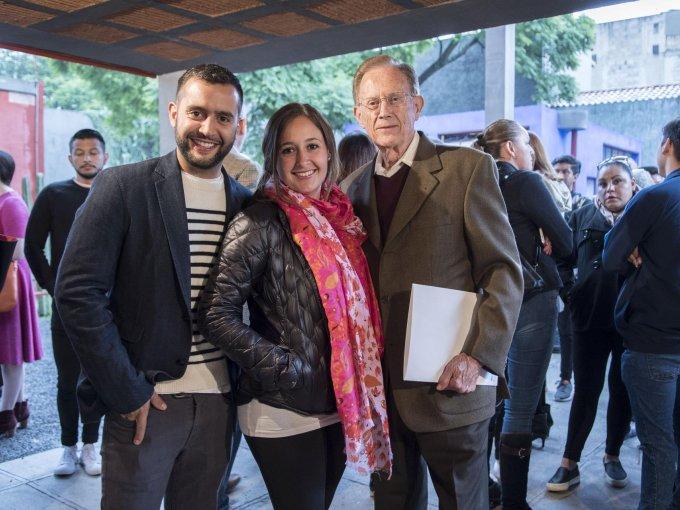 El chef Diego Isunza Kahlo, Gaby Ramos y Jorge Luis Ramos