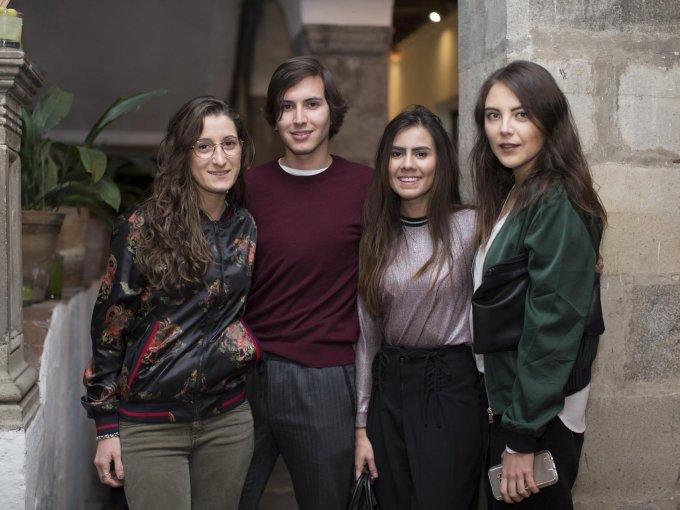 Montse Cortina, Diego González, Ana Ochoa y Carmen Huttanus
