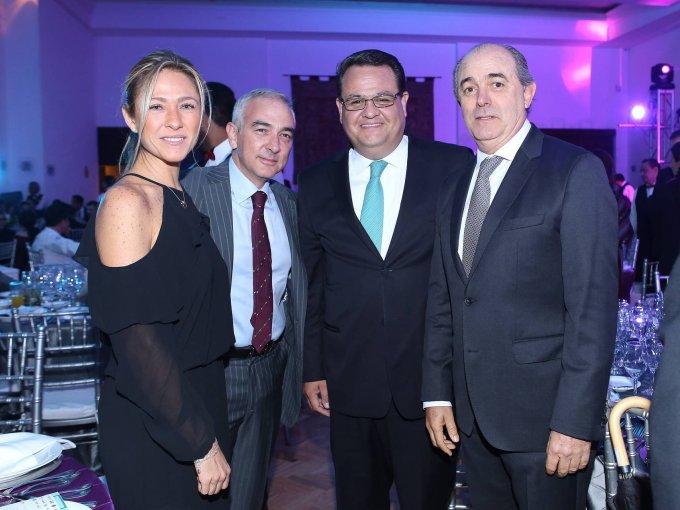 Gabriella Muzzi, Gianfranco Nucci, Armando López y Manuel Gutiérrez