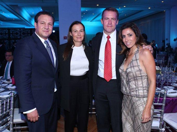Roberto y Sandra Trauwitz con Matthijs y Karime de Kool