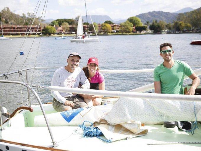 Felipe Gerard, María Martínez y Felipe Gerard