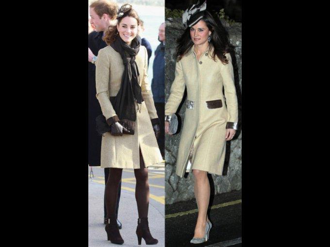 COAT. Kate y Pippa Middleton