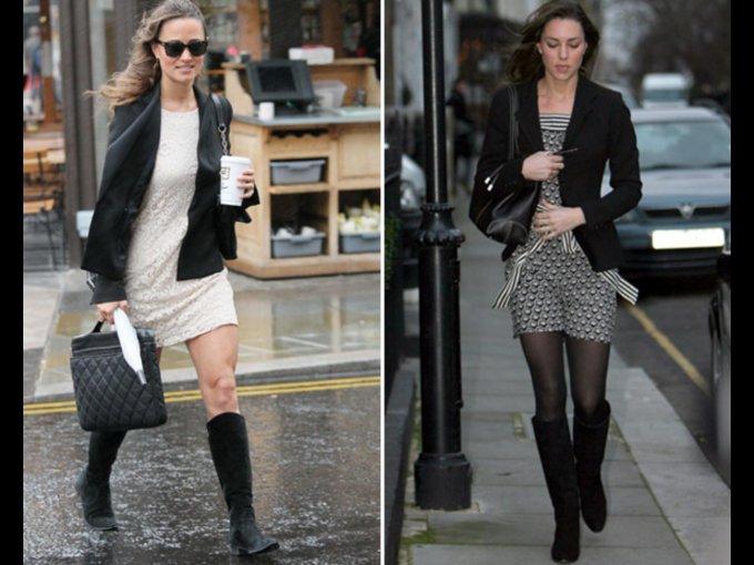 BOTAS. Kate y Pippa Middleton