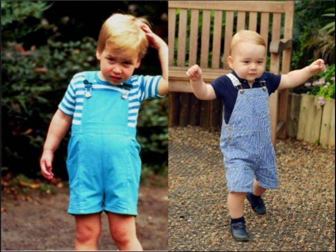 Con prendas muy parecidas en tono azul
