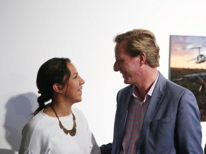 Paola Guzmán y Reuben Berg