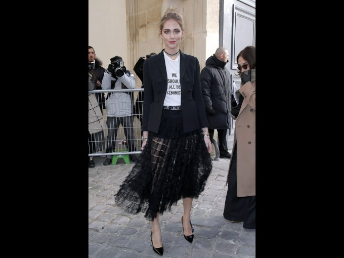 Chiara Ferragni en Dior, París