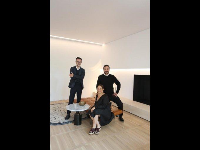 Marco Coello, Emilio Cabrero y Andrea Cesarman