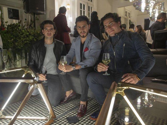 Sebastián Abdul, Moisés Fabila y Juan Hernández