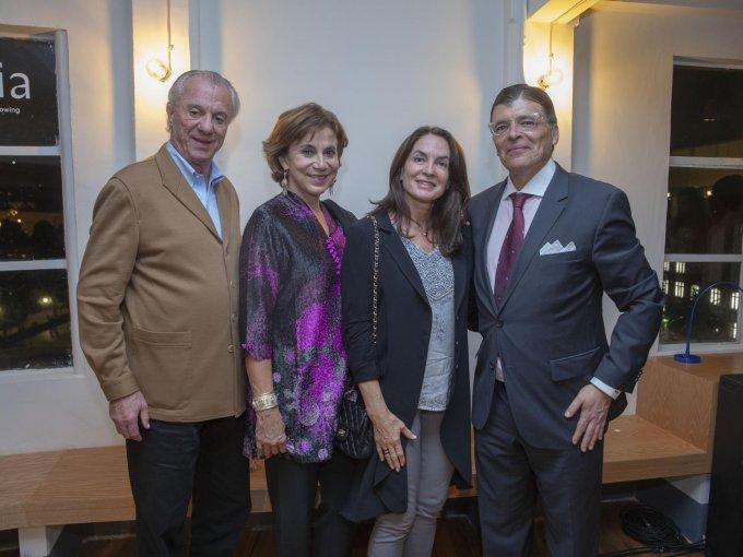 Pedro Sáenz, Maries Ayala, Gloria Sáenz y Miguel Ángel Orozco