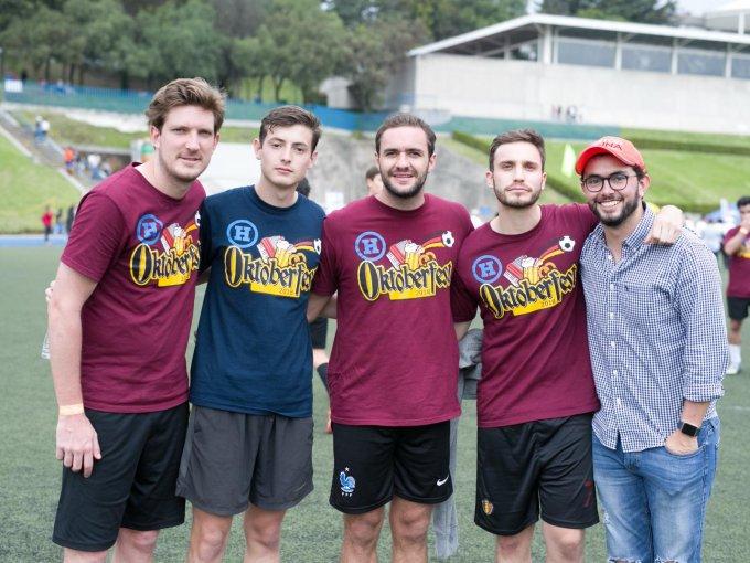Andrés Rojas, Sebastián Nava, José María Bulnes, Jerónimo Noriega y Luis Mijares