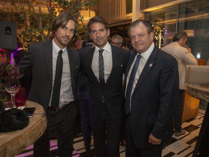 Toño Madrazo, Abelardo Marcondes y Billy Steta