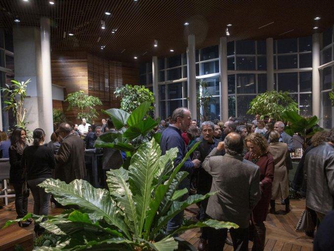 Invitados disfrutaron de la presentación en el Sky Garden de Torre Punta Reforma