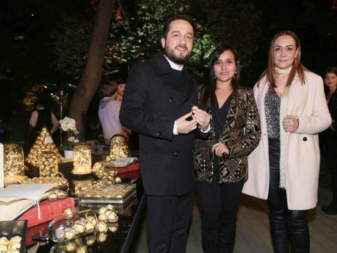 Emerson Sens, Elvira de León y Cristina Mazariegos