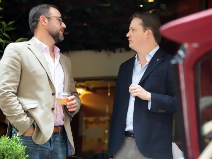 Polo Guitian y Christopher Heinze