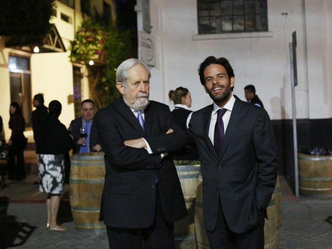 Ricardo Harte con Emilio García Plascencia