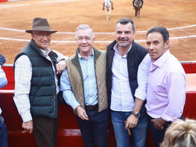 Ricardo Salinas, Joaquín Arrangoiz, Rodrigo Fernández y Carlos Díaz