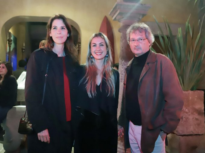 Claudia Finkelstein, Alexandra Roca y Alejandro Calva