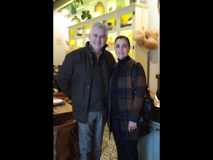 Roberto de la Parra y Melissa Esquer