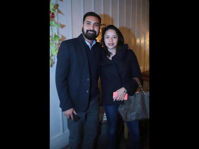 Diego Alcántara y Patricia Céspedes