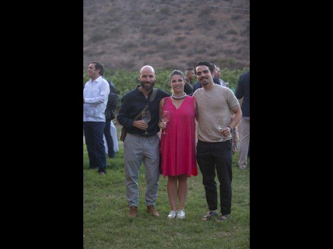 Santiago Cosío, Cristina Pino y Martín Sitten